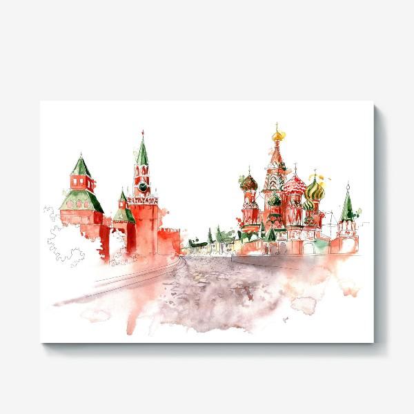 Холст «Москва, Васильевский спуск»