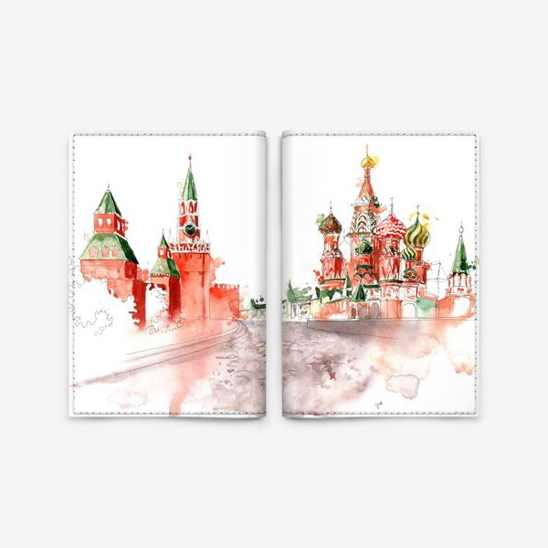 Обложка для паспорта «Москва, Васильевский спуск»