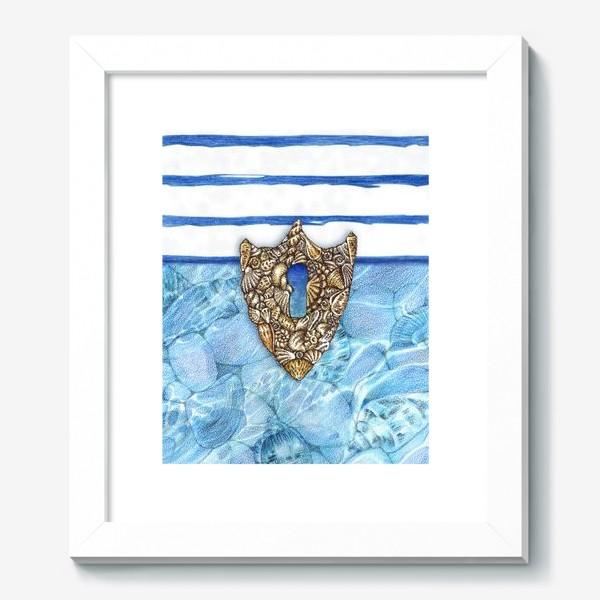 Картина «Замочная скважина из ракушек»