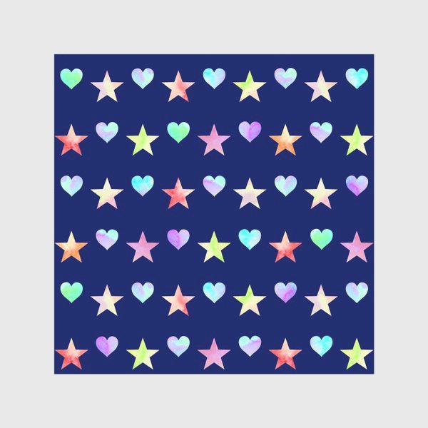 Скатерть «Праздничный паттерн из звезд и сердец»