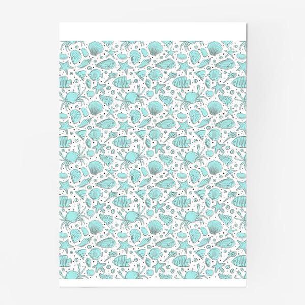 Постер «Морское дно в голубом цвете»