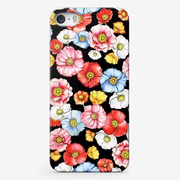 Чехол iPhone «Маки на черном»
