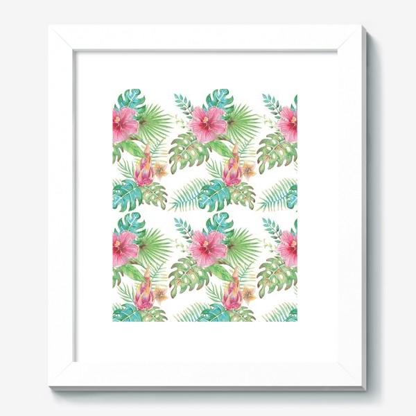 Картина «Тропические растения - паттерн»