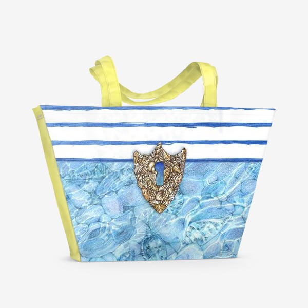 Пляжная сумка «Замочная скважина из ракушек»