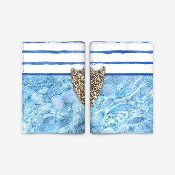 Обложка для паспорта «Замочная скважина из ракушек»