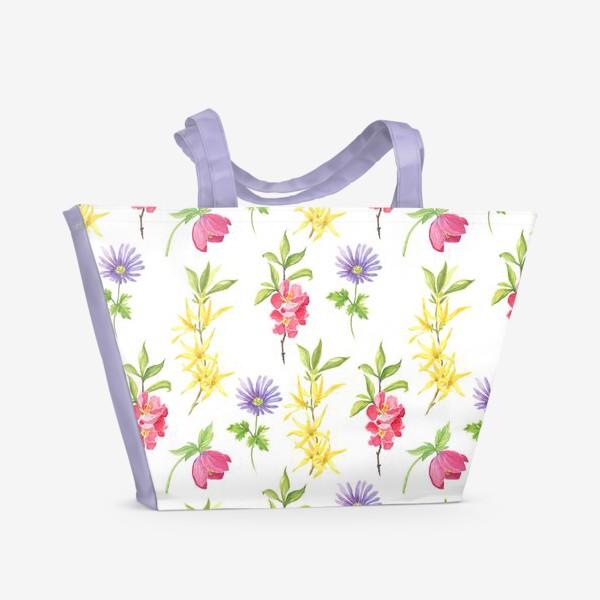 Пляжная сумка «Spring wild flowers»