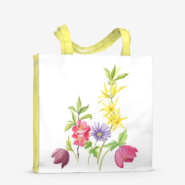 Сумка-шоппер «Букет весенних цветов»