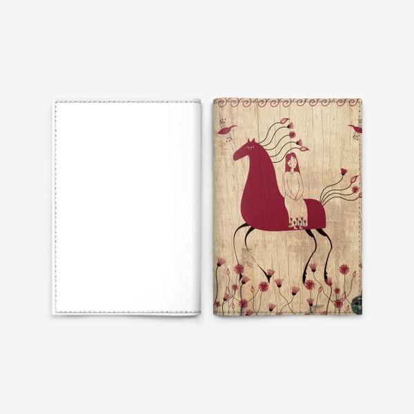 Обложка для паспорта «Мезенская лошадь»