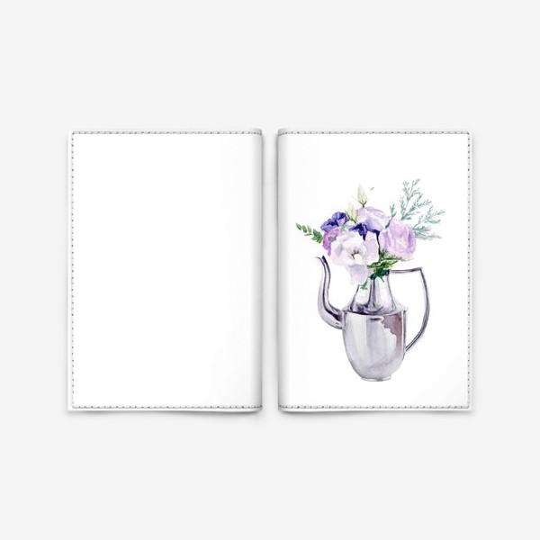 Обложка для паспорта «Акварельный букет в металлическом кувшине»