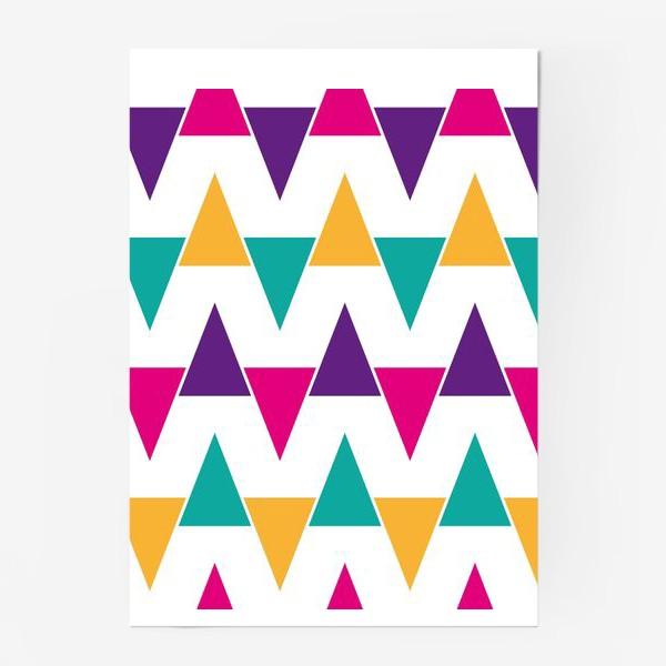 Постер «Яркий абстрактный узор»
