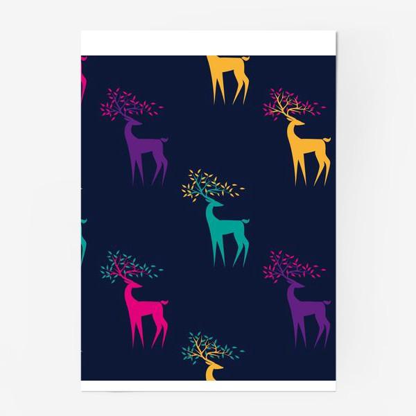 Постер «Яркие олени»