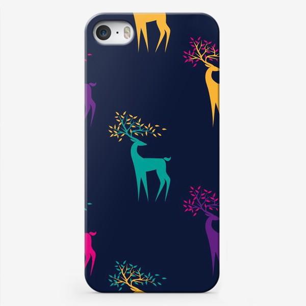 Чехол iPhone «Яркие олени»