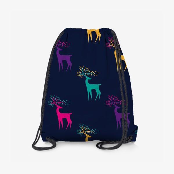 Рюкзак «Яркие олени»