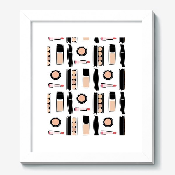 Картина «Паттерн декоративной косметики nude»