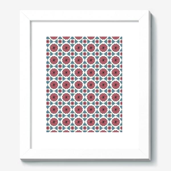 Картина «Бесшовный цветочный векторный паттерн.»