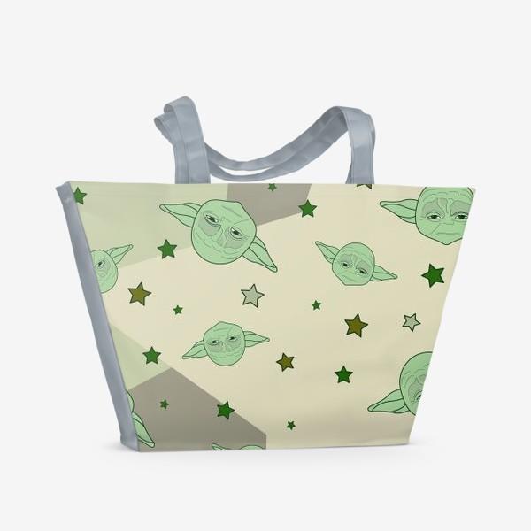 Пляжная сумка «Звездные войны. Star wars. Йода. »