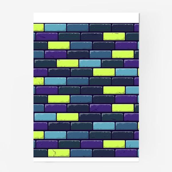 Постер «Яркая кирпичная стена»
