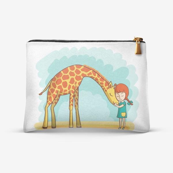 Косметичка «Девочка и жираф»