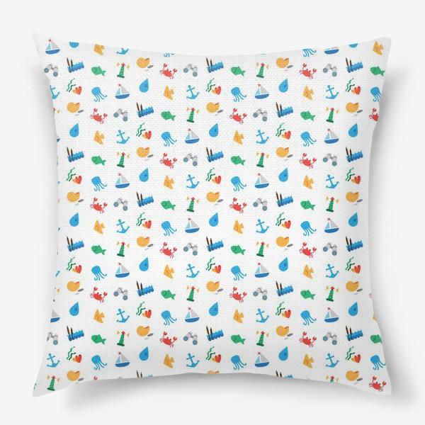 Подушка «Морской узор для летнего отдыха»