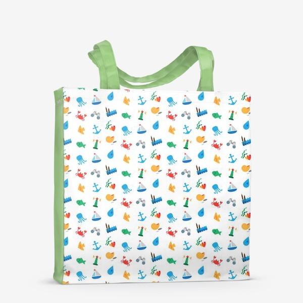 Сумка-шоппер «Морской узор для летнего отдыха»