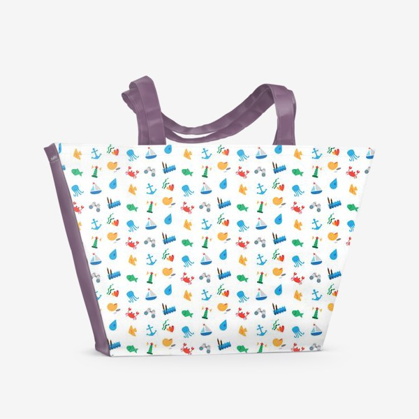 Пляжная сумка «Морской узор для летнего отдыха»