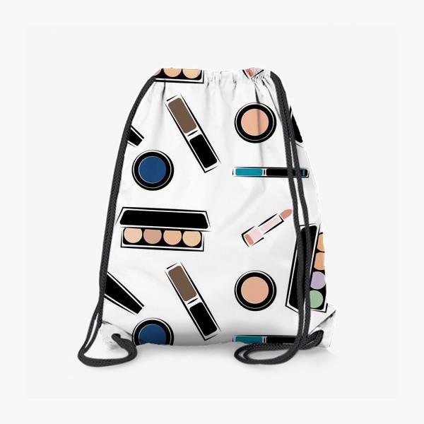 Рюкзак «Паттерн косметика»