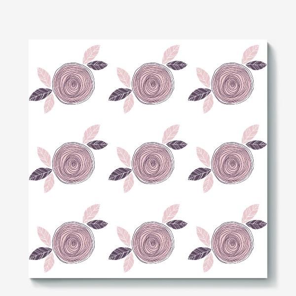Холст «Pale pink roses»