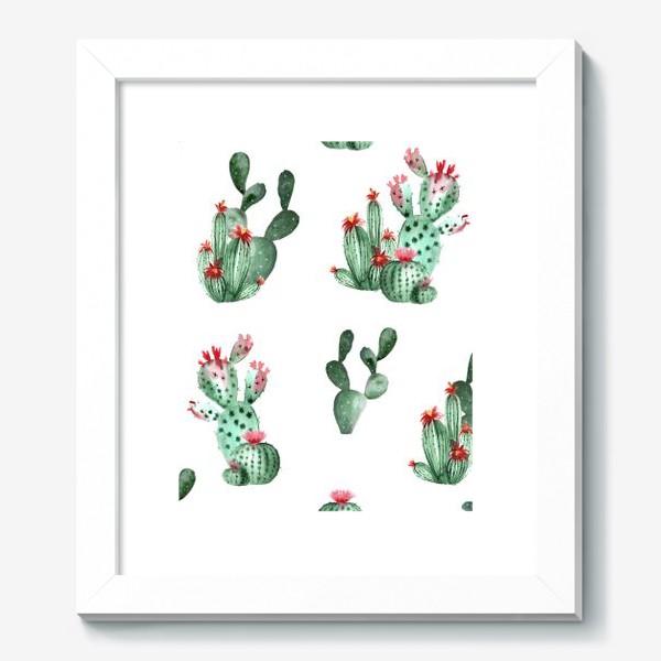 Картина «Кактусы. Акварель»