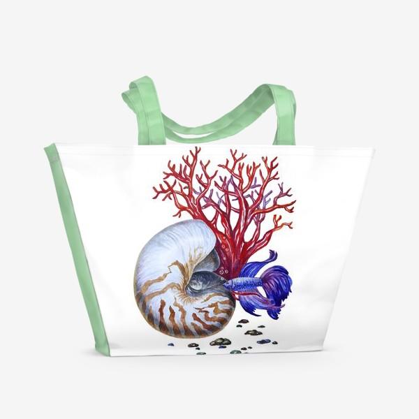Пляжная сумка «Водный мир »