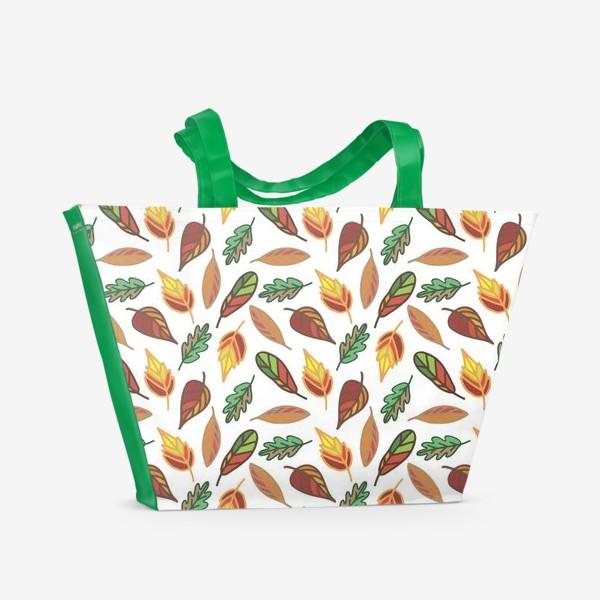Пляжная сумка «Осень. Листья»