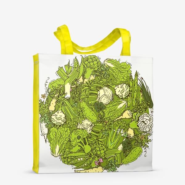 Сумка-шоппер «Зеленый букет для веганов»