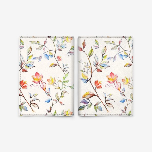 Обложка для паспорта «цветочный принт»
