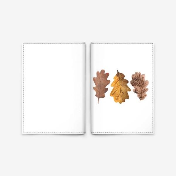 Обложка для паспорта «Дубовые листочки»