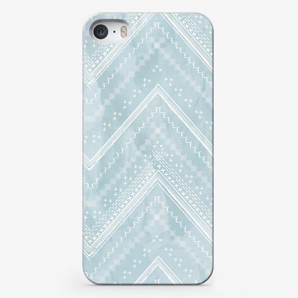 Чехол iPhone «Шеврон на голубом фоне»