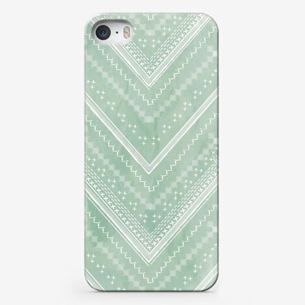 Чехол iPhone «Шеврон на зеленом фоне»