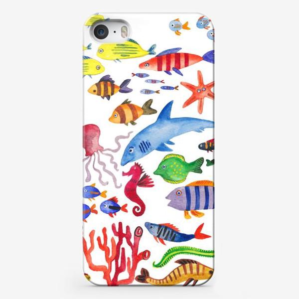 Чехол iPhone «Рыбы. Подводный мир»