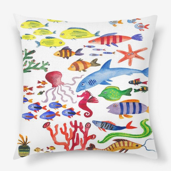 Подушка «Рыбы. Подводный мир»