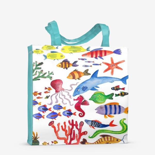 Сумка-шоппер «Рыбы. Подводный мир»