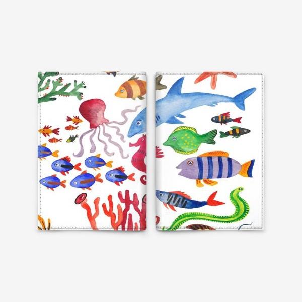 Обложка для паспорта «Рыбы. Подводный мир»
