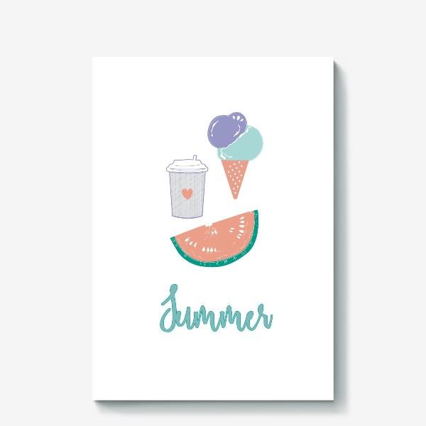 Холст «Summer food»