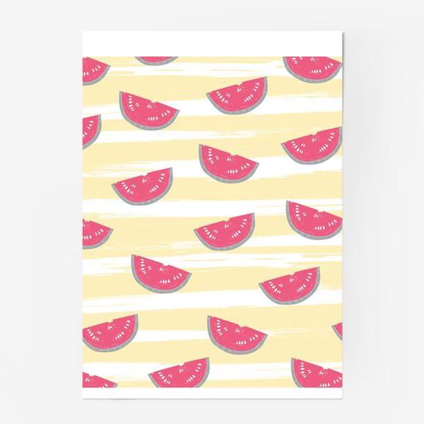 Постер «Паттерн с кусочками арбуза»