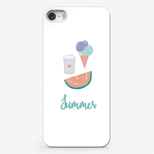Чехол iPhone «Summer food»