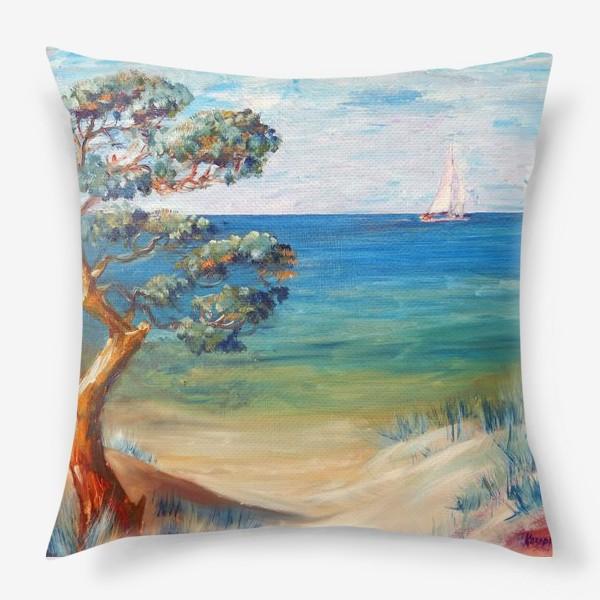 Подушка «Дюны и море»