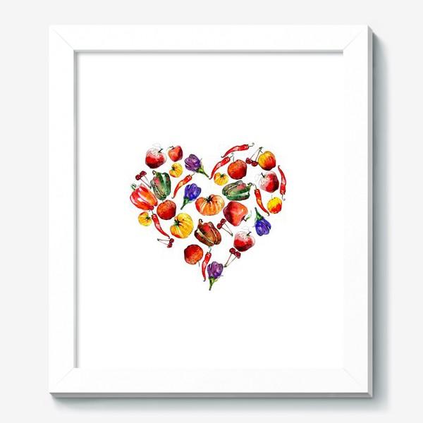 Картина «овощное сердце»