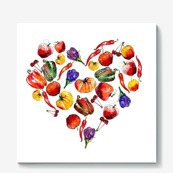 Холст «овощное сердце»