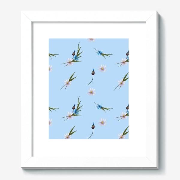 Картина «васильки и ромашки »