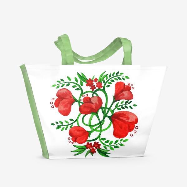 Пляжная сумка «Цветы для любимой»
