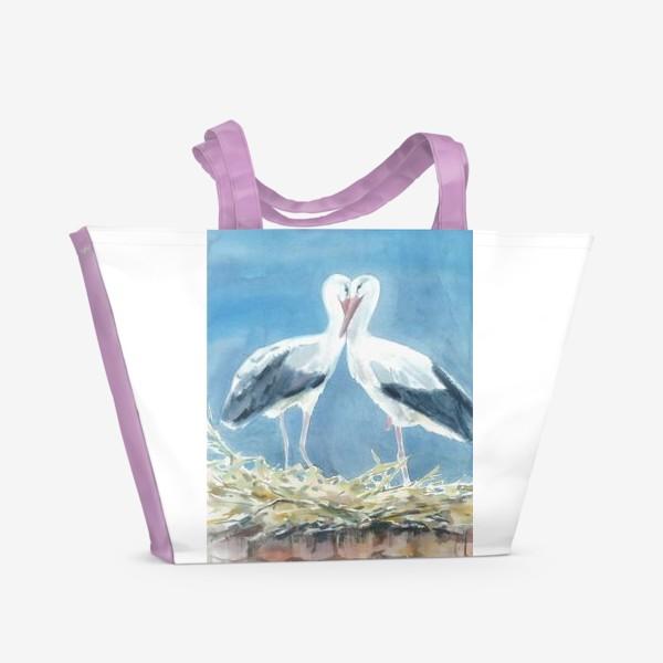 Пляжная сумка «Аисты»