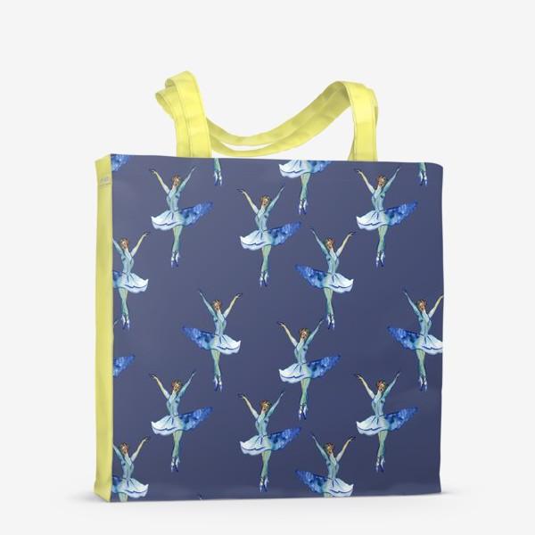 Сумка-шоппер «Балерины на синем фоне»