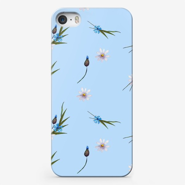 Чехол iPhone «васильки и ромашки »